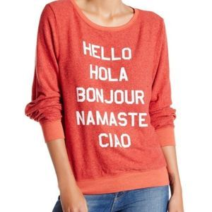 Wildfox Say Hello to Everyone Sweater size XS